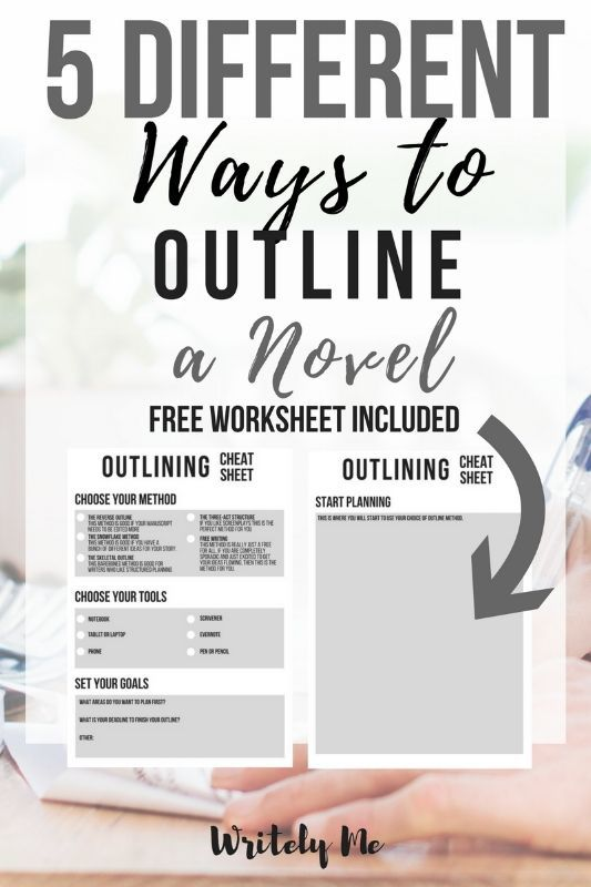 5 ways to outline your novel