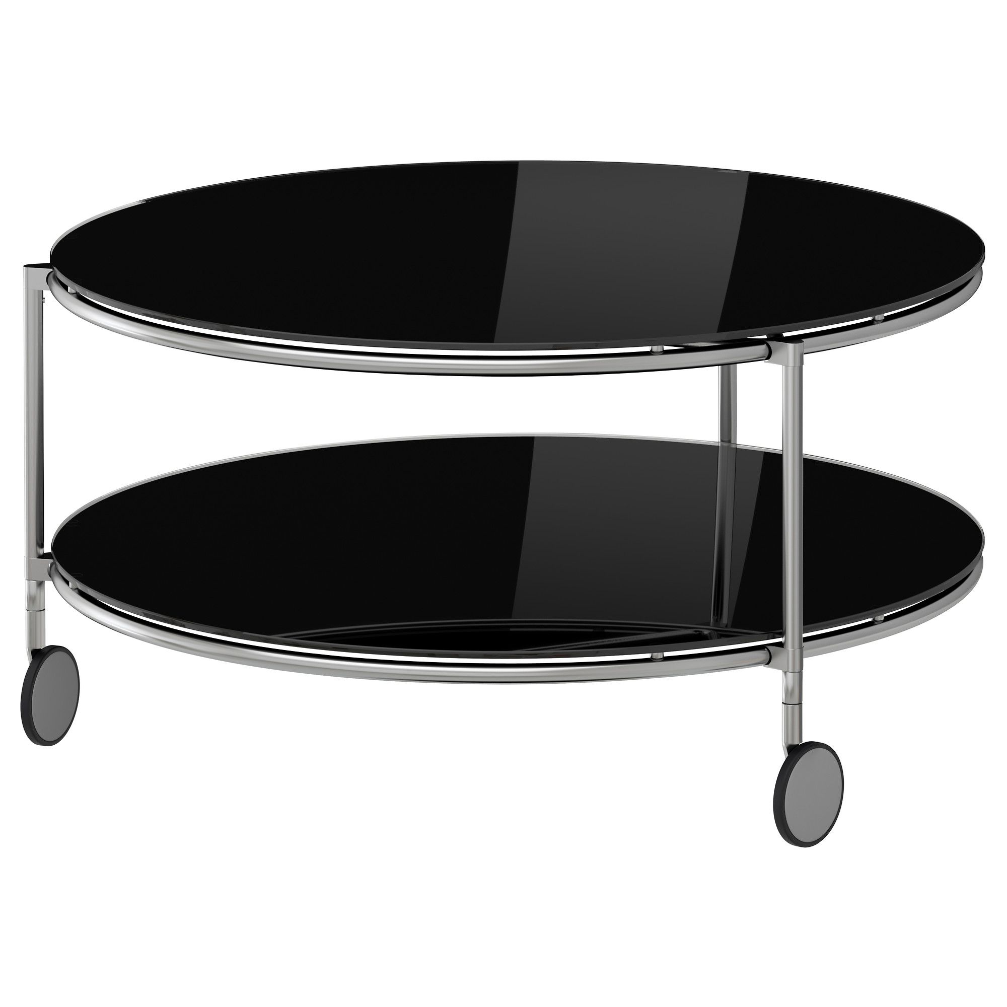 STRIND Coffee Table Blacknickel Plated IKEA - Strind coffee table