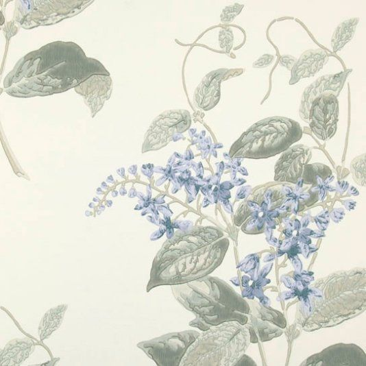 Madras Violet Archive Anthology Wallpaper A treasured member of the Cole & Son floral family is recreated here as a stunning surface print wallpaper in several of the original block printed colourings from the 1860's, including violet with grey.