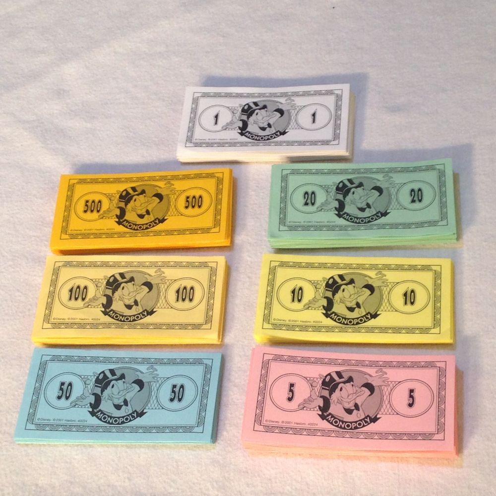 2001 monopoly disney edition parker brothers complete money only replacement pcs parkerbrothers
