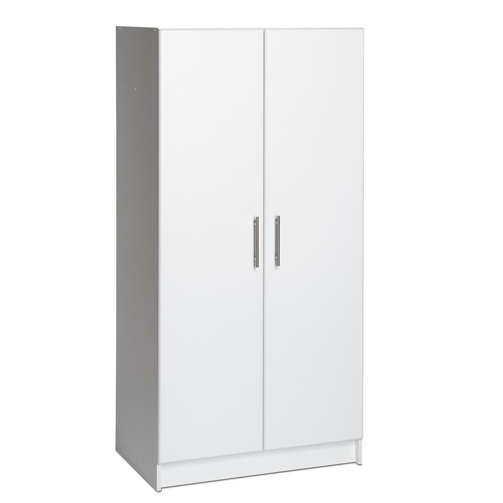 Prepac 32 In Elite Storage Cabinet Wes 3264 The Home Depot White Storage Cabinets Storage Cabinet Storage Cabinets