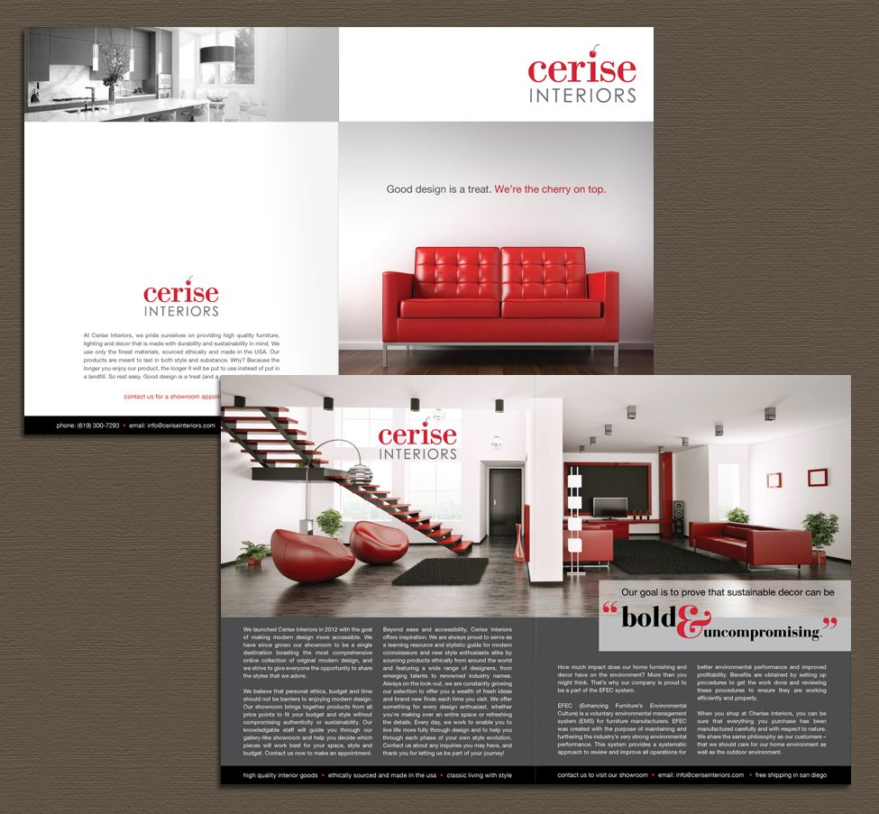 Brochure for designer interior for P s furniture flyer