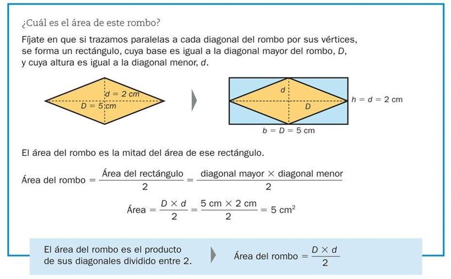 El área Del Rombo Recursos Didácticos Rombos Recursos Didácticos Calcular El Area