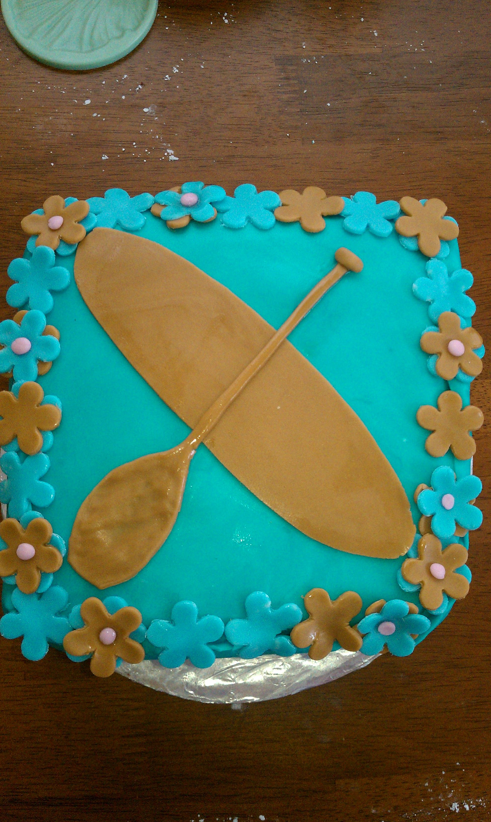 Stand up paddle board ornament - Paddle Board Birthday Cake