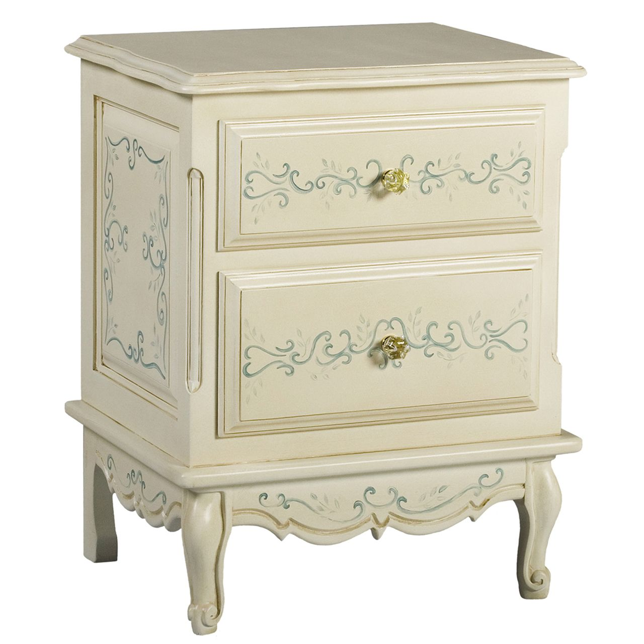 FRENCH NIGHT TABLE Bordeaux Toile