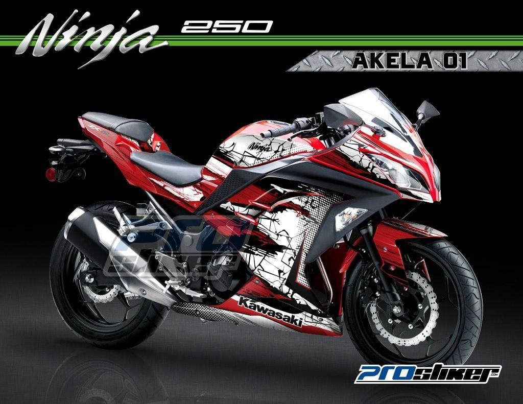 Striping Ninja 250 Fi Warna Merah Desain Grafis Akela 01 Cutting