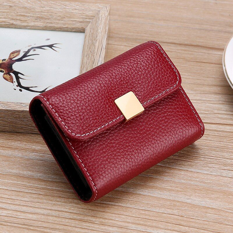 Large capacity coin purse wallet womens genuine leather