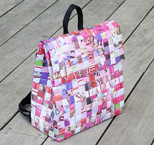 Backpack Made Using Magazine Paper Free Standard Shipping