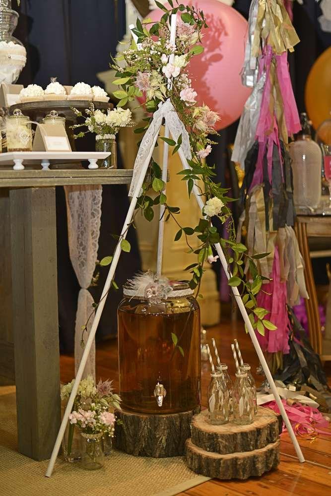 Rustic, Bohemian Chic Dessert Table Wedding Party Ideas