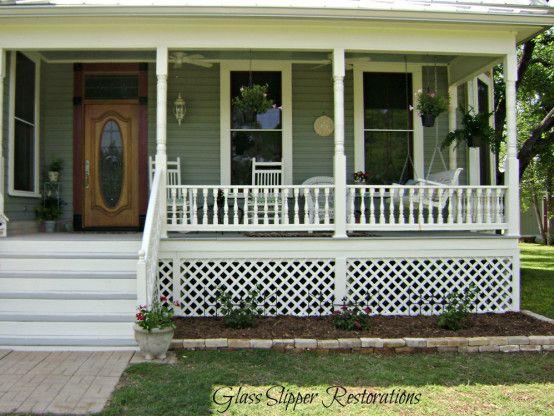 Front Porch Of 1900 Victorian Farmhouse Via Glassslipperrestorations