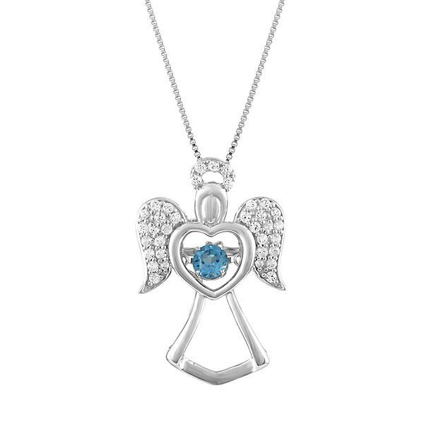 The Beat of Your Heart® Blue Topaz & Lab-Created White