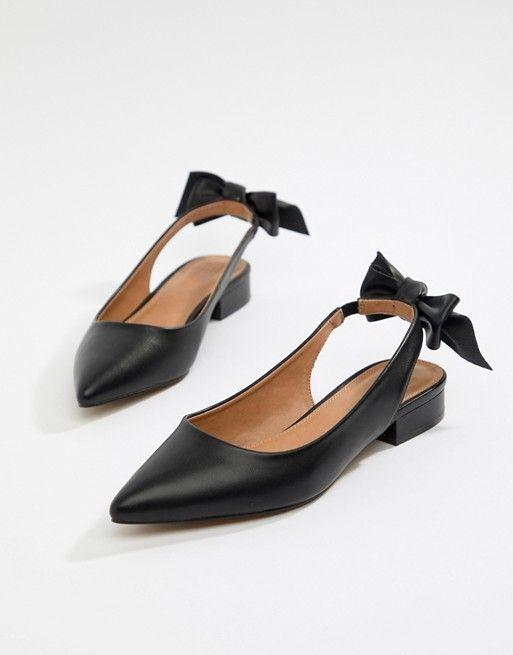 ASOS DESIGN Larissa bow slingback flats, Women's Fashion