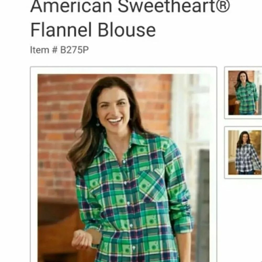 0ef2e640592 NEW Women s Blair American Sweetheart Plaid Flannel Button Down Shirt   fashion  clothing  shoes  accessories  womensclothing  tops (ebay link)