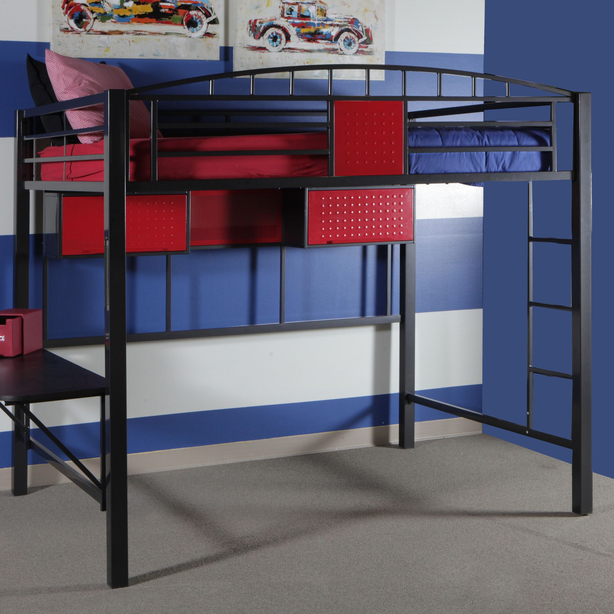 Columbus Bunk beds with stairs, Low loft beds, Junior