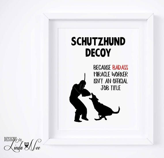 Schutzhund Decoy IPO German Shepherd Print, German Shepherd Protection Work, Schutzhund Trainer, Schutzhund Helper, Decor Digital Print PH51