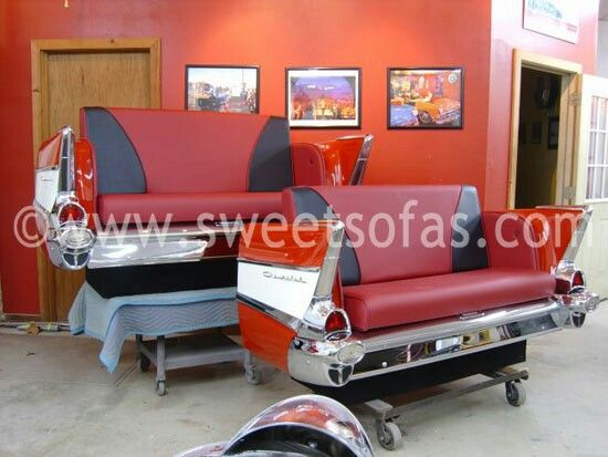 1957 chevrolet car couch by sweetsofas.com the best in car furniture ...