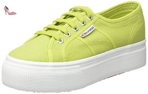 Green Vert Sneakers femme basses Superga 2790 Apple Acotw qXRwEYp