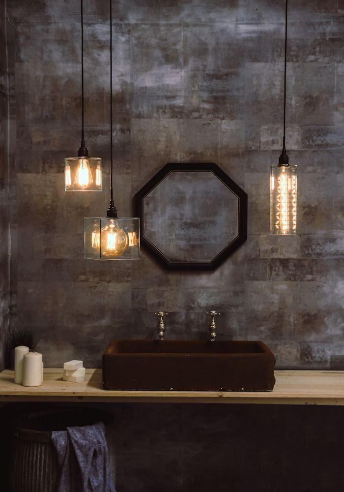 clear glass bathroom pendant lighting