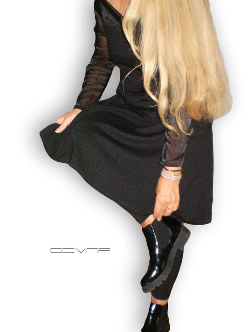 Black Sheer Sleeve Bodycon Dress Little Black Dress Classy Sheer Long Sleeve Dress Bodycon Dress With Sleeves [ 1785 x 1340 Pixel ]