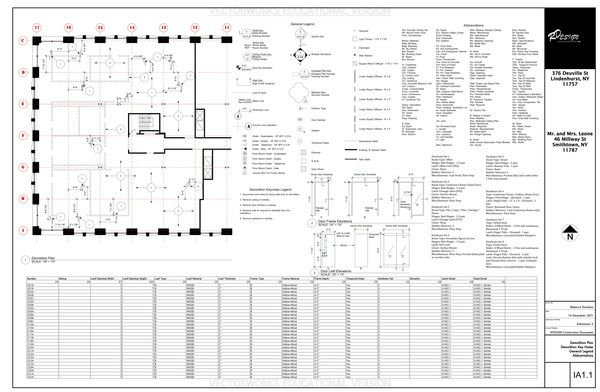 Construction documents demolition plans construction - General notes for interior design drawings ...