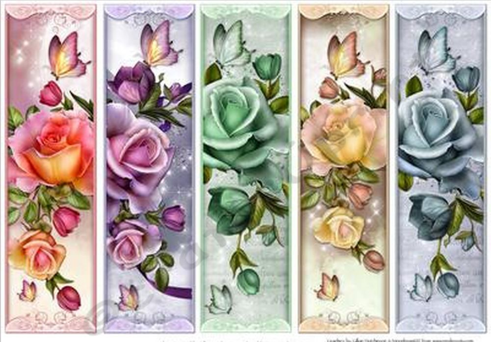 Roses & Butterflly Bookmarks