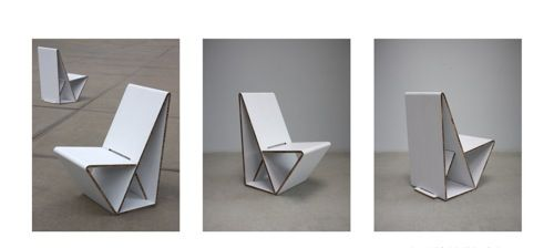 Another Cardboard Chair That Could Be DIY And Made At Kids Height (and  Stored Flat