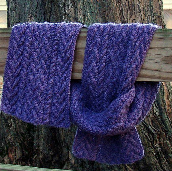 Knitty Gwynedd Cable Knit Scarf For When I Figure