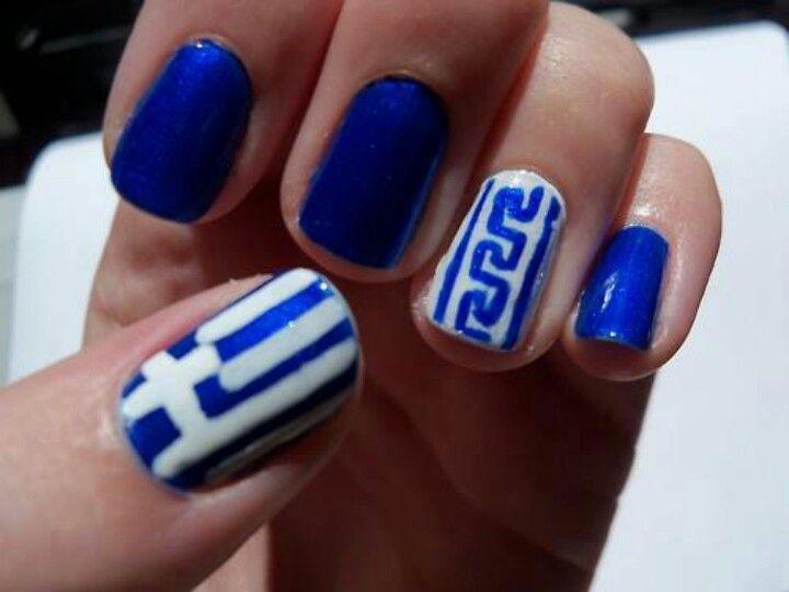 Greek Nails Greece In 2018 Pinterest Nails Nail Art And Nail