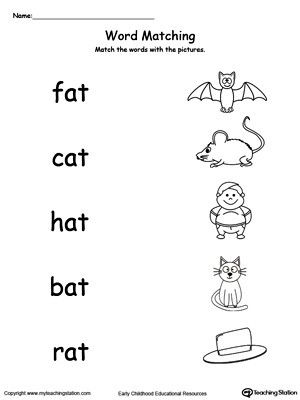 3 Letter Word Word Family Worksheets Kindergarten Word Families Family Worksheet