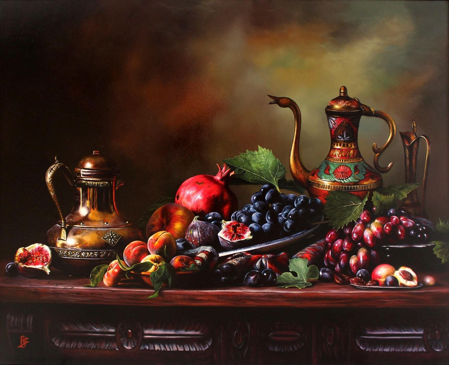 Hüseyin Feyzullah – 'Natürmort', 90×120 cm, TÜYB, 2015