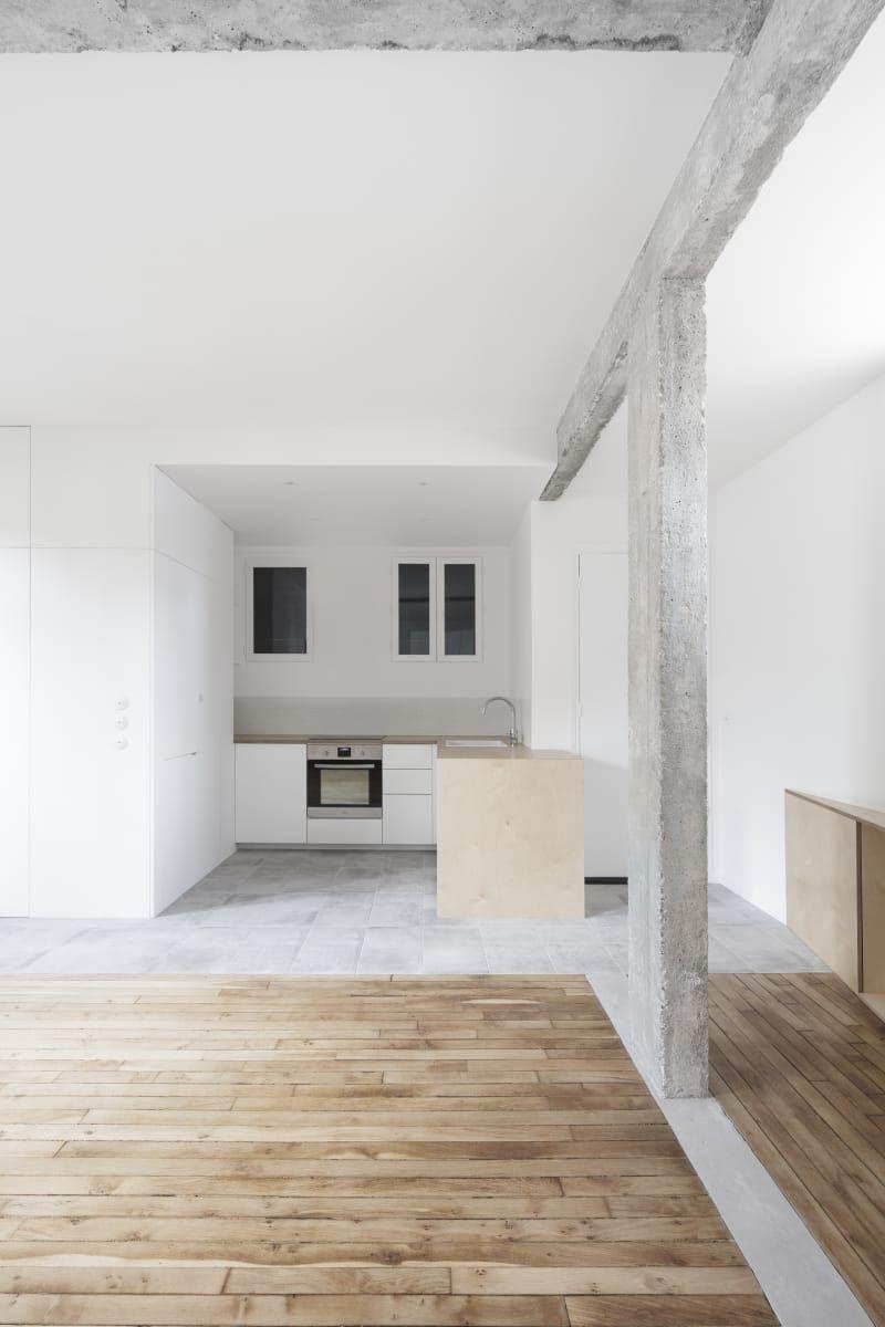 Gali sulukjian architecte appartamento design parigi for Appartamento design industriale