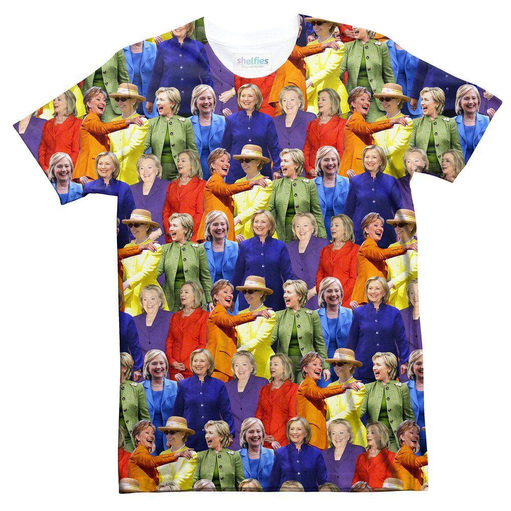 hillary clinton rainbow jumpsuits t shirt pinterest printing