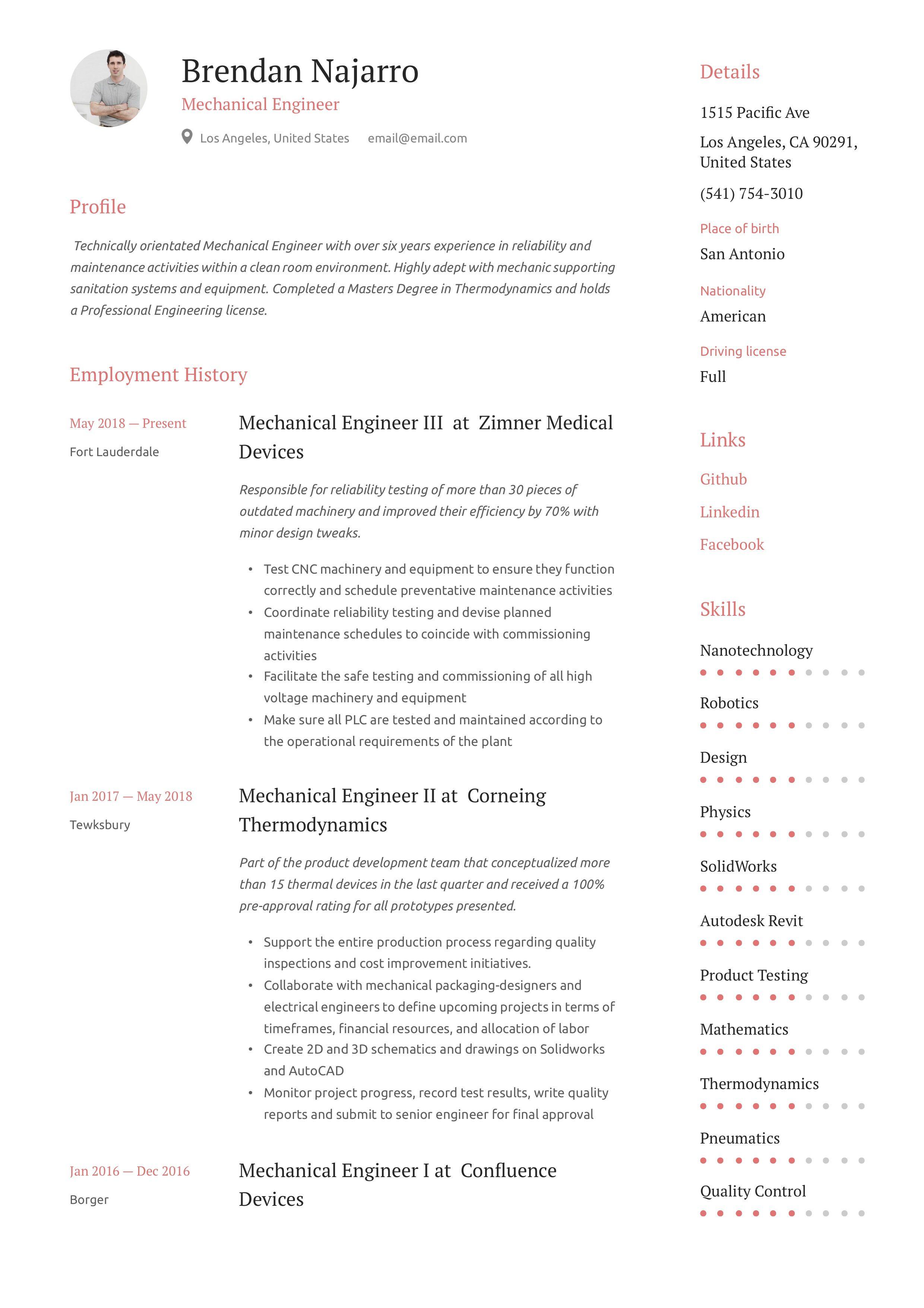 Mechanical engineer resume writing guide in 2020
