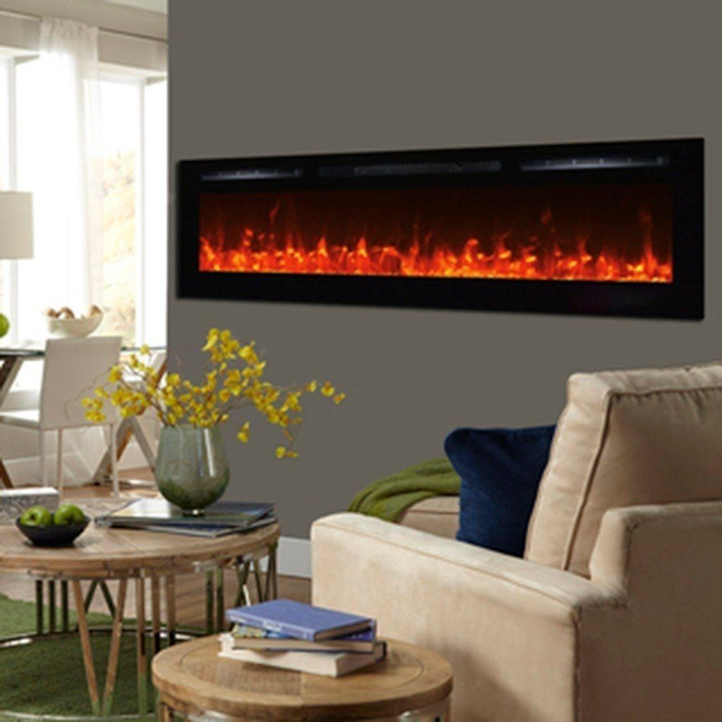 Touchstone Sideline 72 Flush Mount Electric Fireplace Recessed