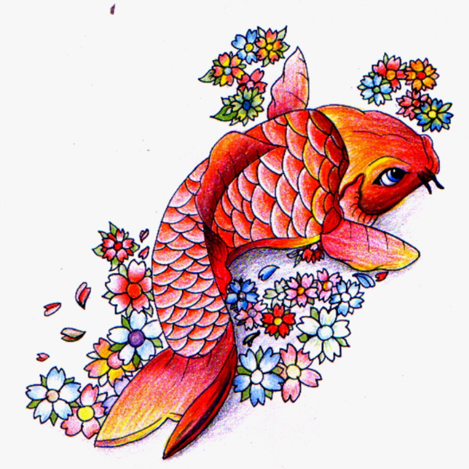 Pin by Tara Parmer Eastman on Kawaii | Pinterest | Koi fish tattoo ...