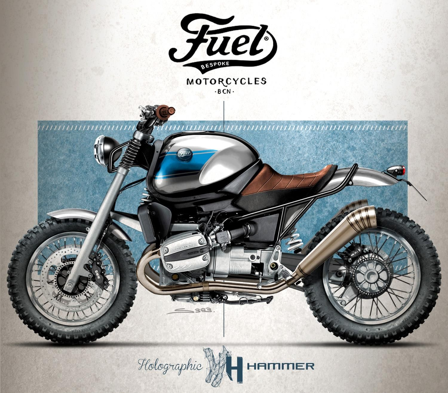 hight resolution of fuel bespoke bmw r1100r scrambler by holographic hammer