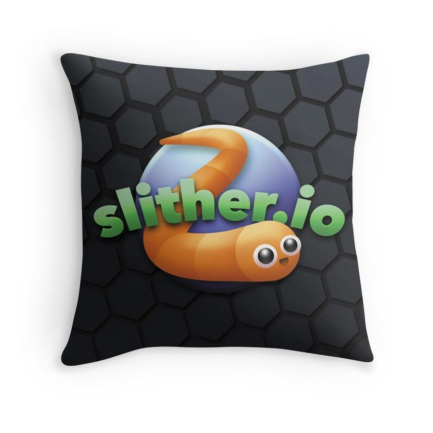 'Slither.io' Throw Pillow By Alex L