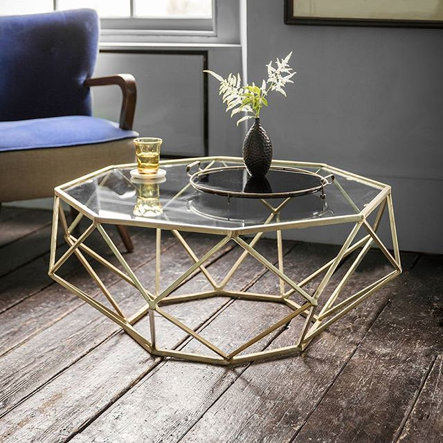 Precious metallics Solitaire Coffee Table from Atkin & Thyme