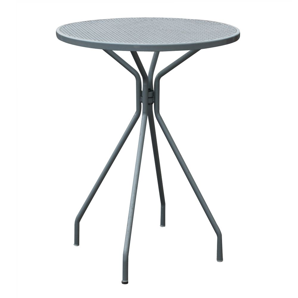 Vintage outdoor patio bar cocktail table with metal construction found at http