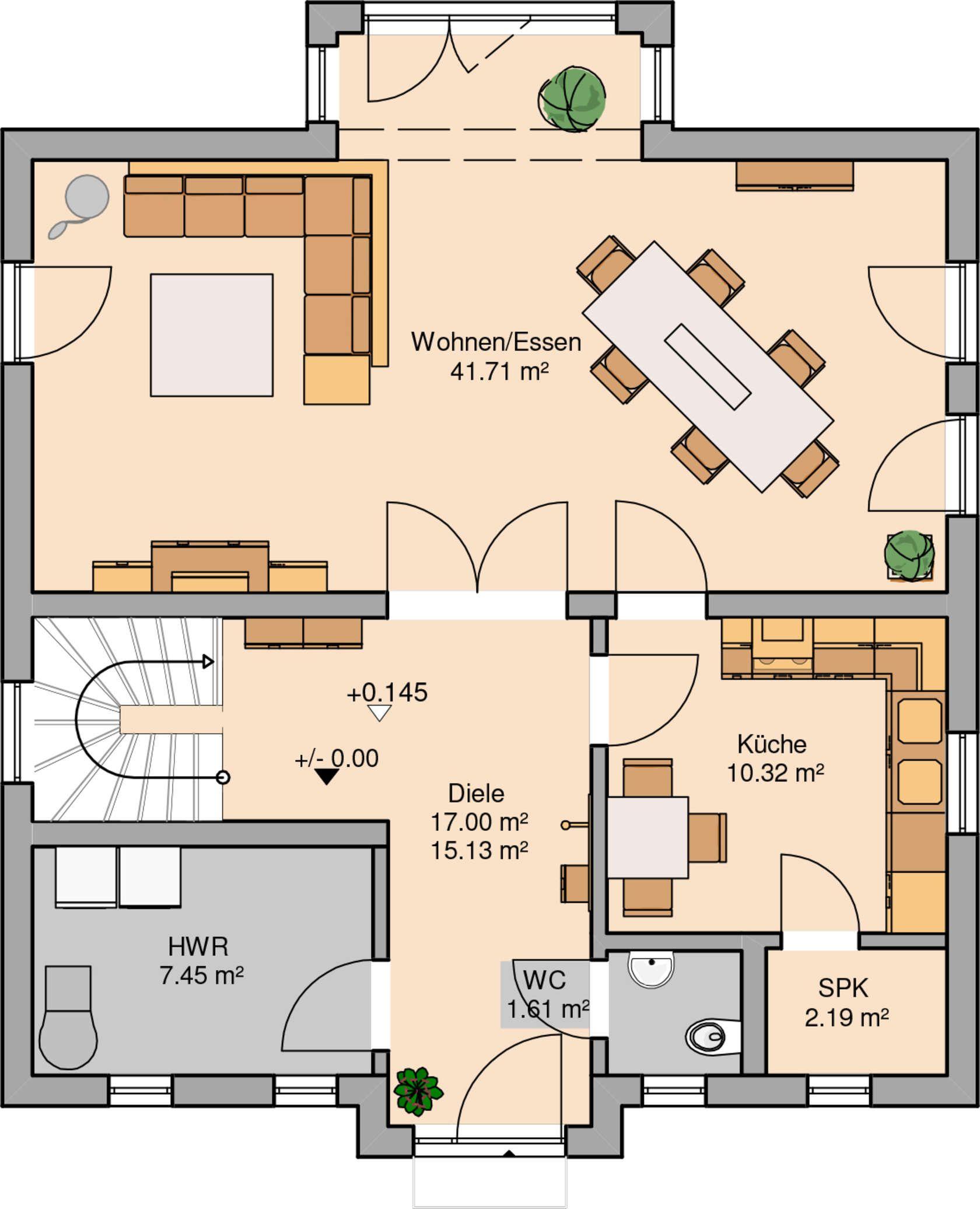 h user modernes wohnen pinterest haus villa und haus grundriss. Black Bedroom Furniture Sets. Home Design Ideas