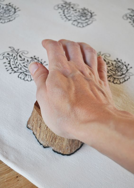 The Painted Hive | DIY Block Printing on Fabric