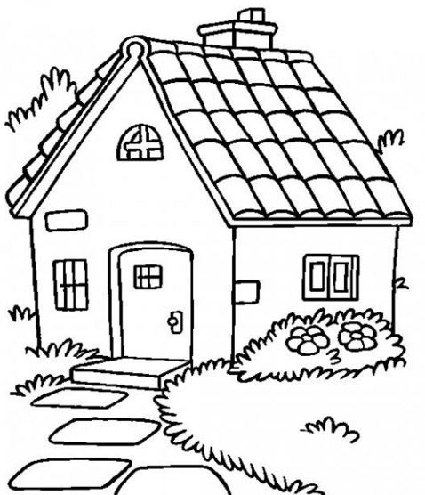Dibujos de casas con chimenea para colorear | javier | House