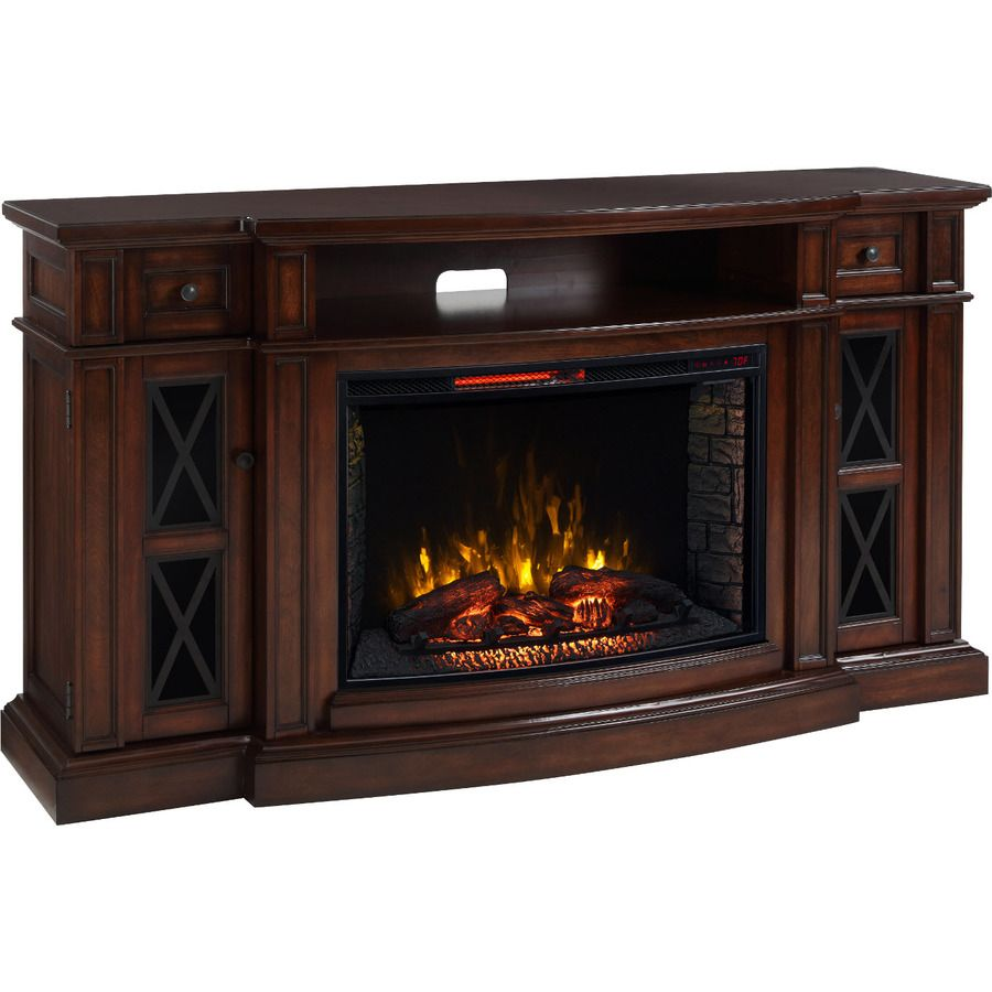 Scott Living 72 In W 5 200 Btu Chestnut Mdf Infrared Quartz