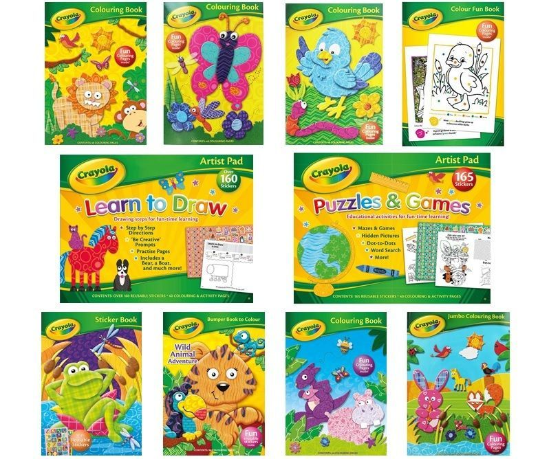 Kids Activity A4 Fun Stickers Puzzle Games Smile UNICORN EMOJI COLOURING BOOKS