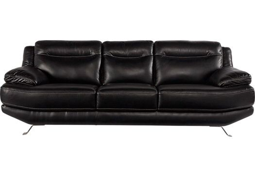 Best Sofia Vergara Castilla Black Leather 3 Pc Living Room Sofa 400 x 300