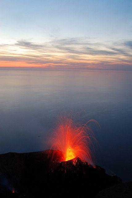 Stromboli, Ilhas Eólias, na Sicília