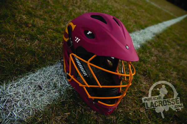 Salisbury Lacrosse - nice custom Warrior TII helmet for the