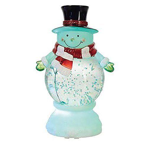 Snowman Merry Christmas Character LED Light-up 9 x 5 inch Acrylic Snow Globe