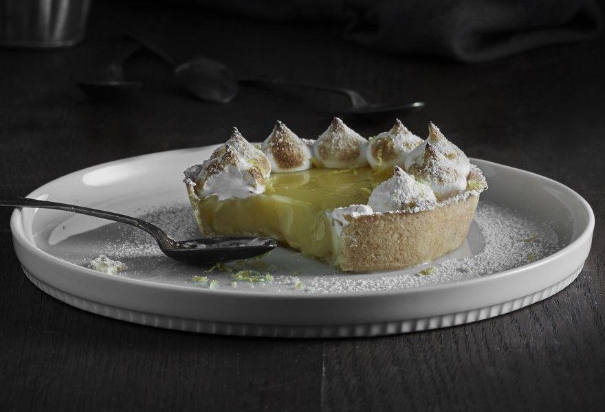Citrontaerte Med Braendt Marengs Citrontaerte Dessert Ideer Mad Ideer