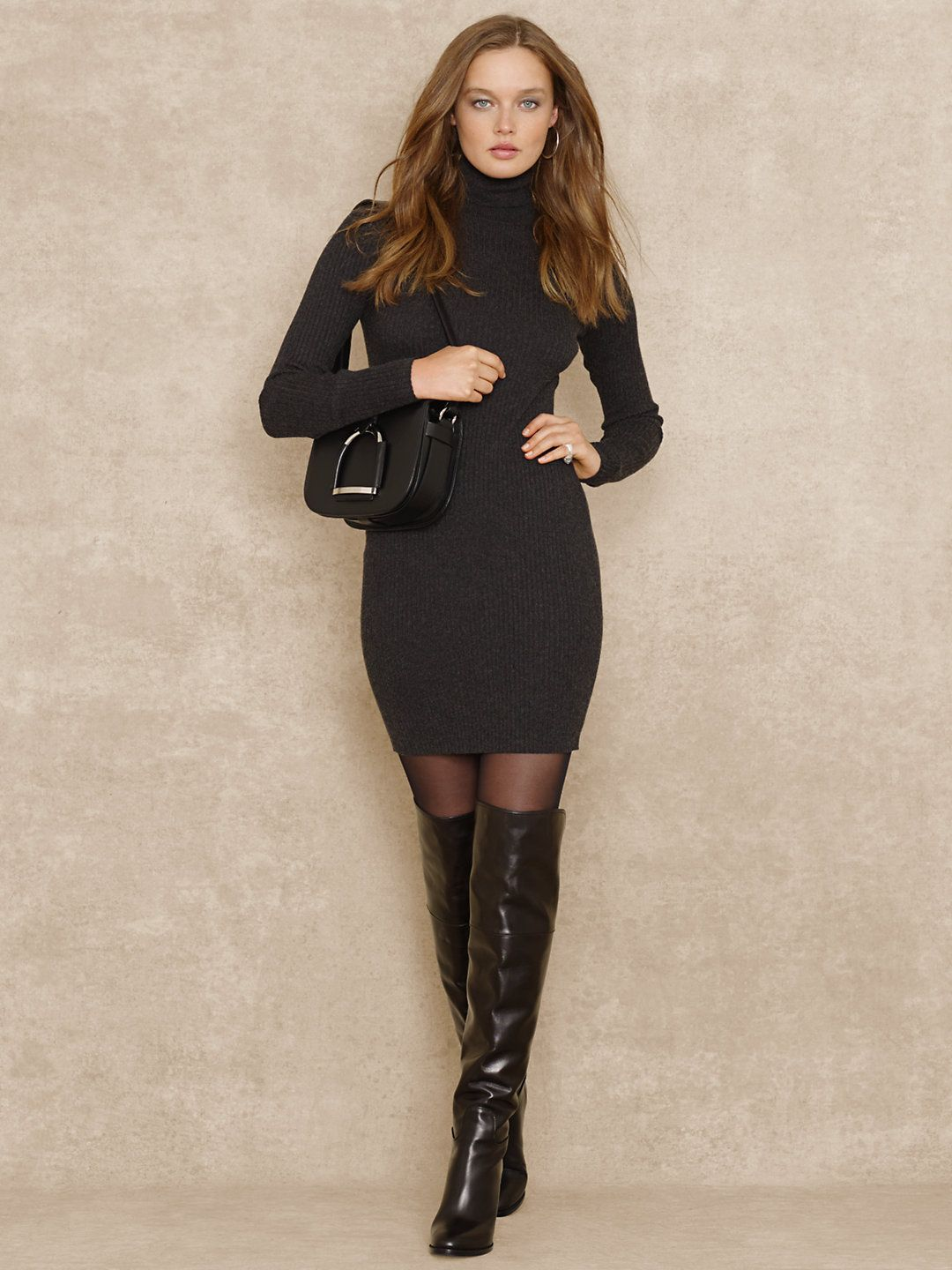 646fb6b20b1 Turtleneck Sweater Dress - Short Dresses Dresses - RalphLauren.com ...